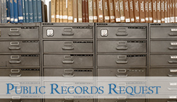 old filing cabinet for Public Records Requests